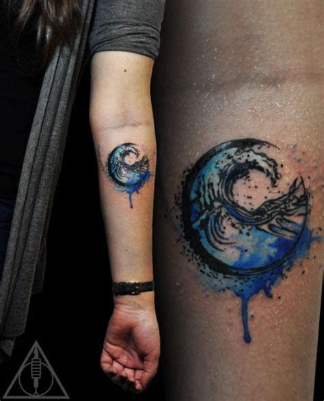 watercolor tattoos    blow  mind