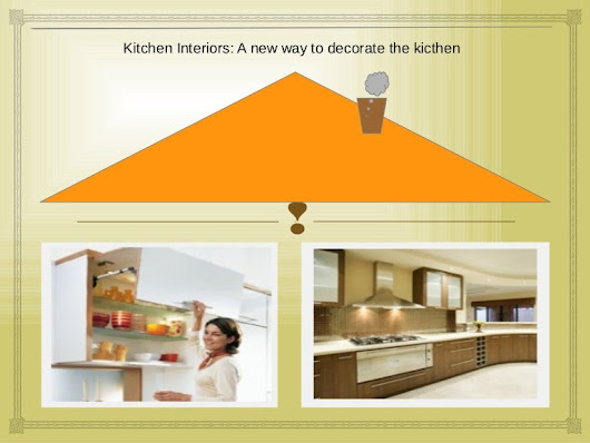 Kitchen interiors: a new way to decorate the kicthen