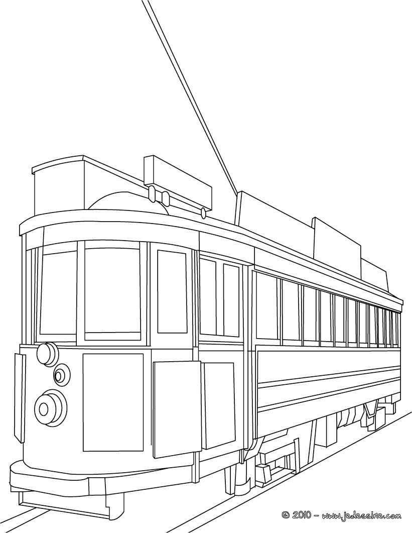 Coloriage rame de tramway  imprimer
