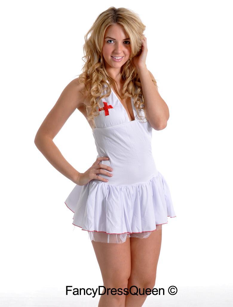 sexy black gothic nurse fancy dress costume size 810