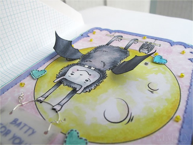3D details - Lia Stampz batty for you Bronson card