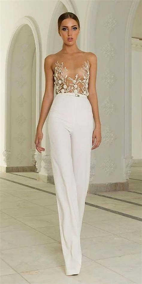 gorgeous wedding pantsuits  jumpsuits  brides