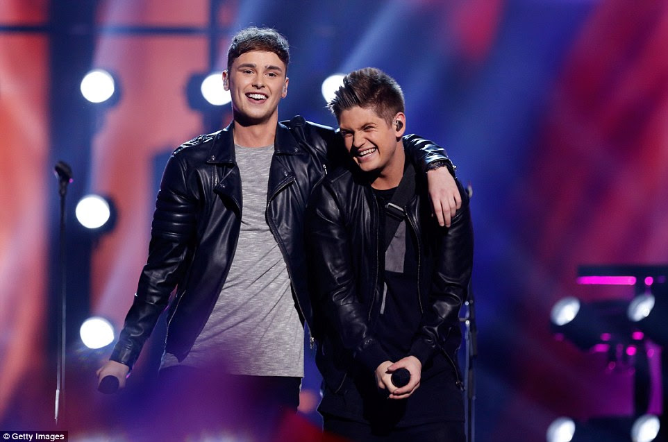 Former The Voice contestants Joe and Jake representing United Kingdom put on an impressive performance with the pop song You're Not Alone