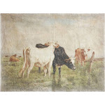 Vintage Cows Unframed Poster Print - Creative Co-Op