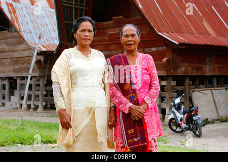 House, Batak culture, Samosir Island, Lake Toba, Batak region Stock Photo, Royalty Free Image