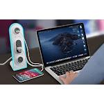 Surge Desktop Multi Charging Station White/Grey