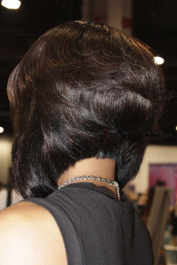 Black Stacked Bob Hairstylepinterest Haircuts