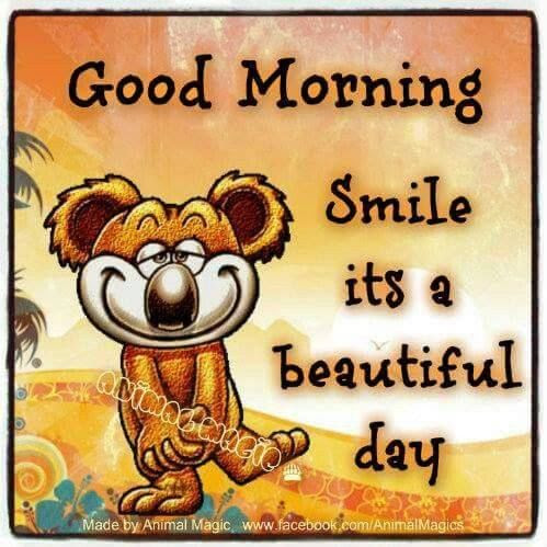 Good Morning Smile Its A Beautiful Day Pictures Photos And Images