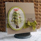 Cheery Lynn Designs Origami Tree Tutorial and Gold Foil Notecard