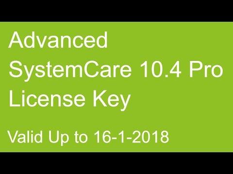 advanced systemcare 10.3 license key
