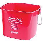 San Jamar KP196RD Kleen-Pail, 6 qt., Plastic, Red - Sanitizing Solution Printing