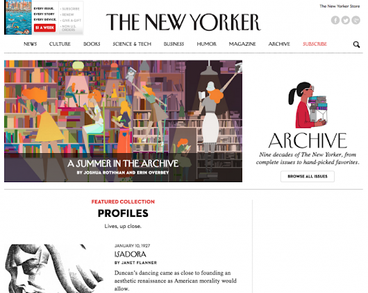 You can now read The New Yorker's online archive for free