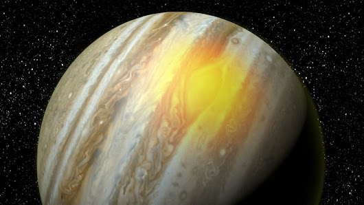 Jupiter's Great Red Spot 'roars with heat' - BBC News
