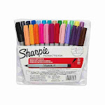 Sharpie Permanent Markers, Ultra Fine Point, Assor