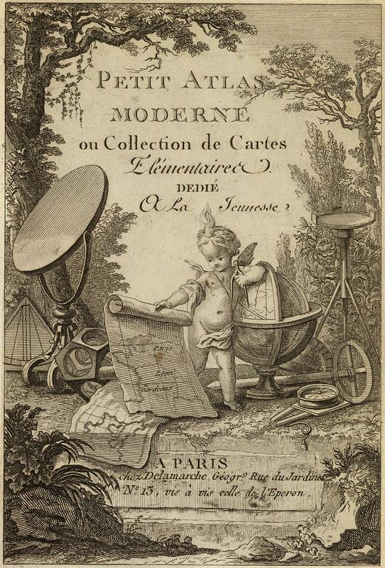 Petit atlas moderne ou collection de cartes elementaires dedie a la jeunesse 1800