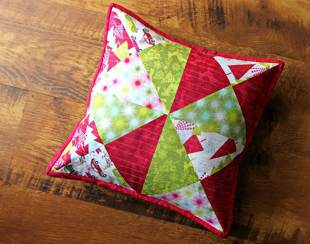 Maureen Cracknell Handmade: A Hip Holiday Patchwork Pillow { Tutorial & GIVEAWAY } : :
