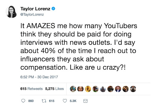 Why do YouTubers Hate Journalists, and Should Publishers Pay Their Sources?