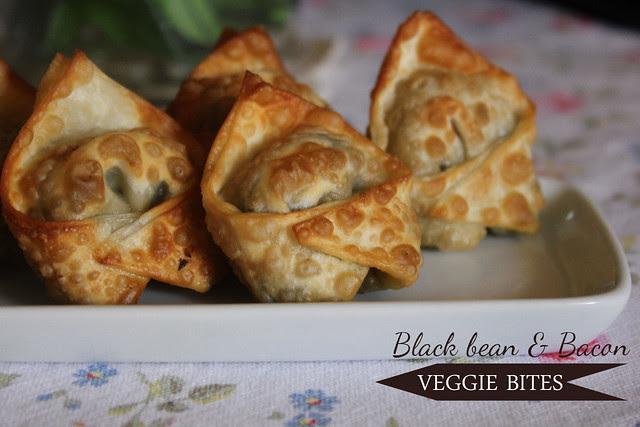Black Bean & Bacon Veggie Bites