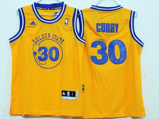ECseller Official--Youth Nba Golden State Warriors #30 Curry Yellow Jersey