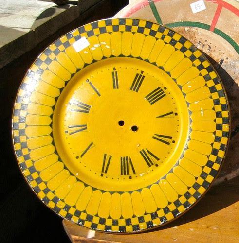 Stunning Yellow Clock Face-ALAMEDA