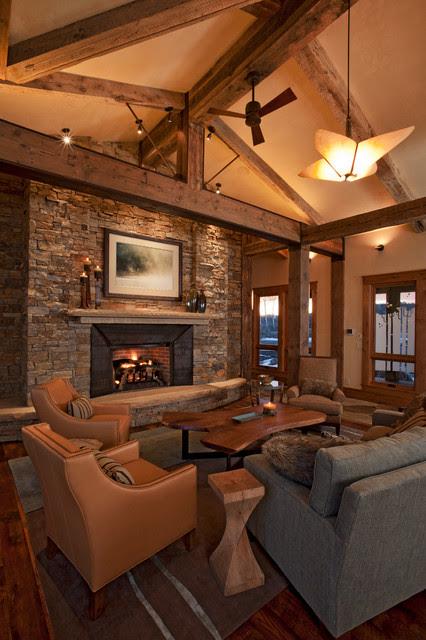 Mountain Modern Living Room - Contemporary - Living Room ...