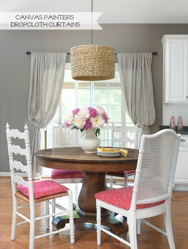 How to Use Canvas Painters' Drop Cloths to Decorate ...
