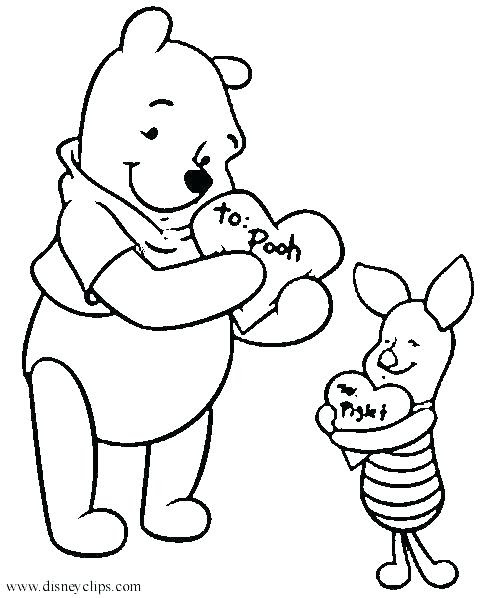 62 Coloring Pages Valentines Day Disney Pictures