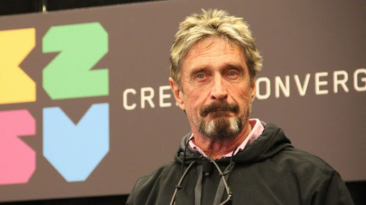 McAfee Says He Can Make Internet Users Untraceable