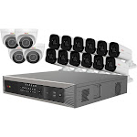 Revo America RUP161BNDL-17 Ultra HD Plus 16 Channel Surveillance System with 16 Audio Capable Cameras