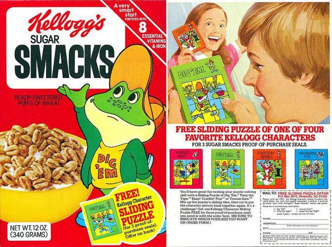 Sugar Smacks Sliding Puzzle Box
