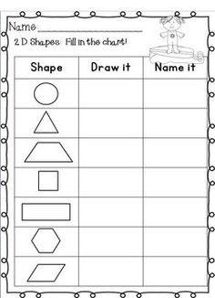 15 Best Images of 2D Shapes Worksheet First Grade - 3D ...