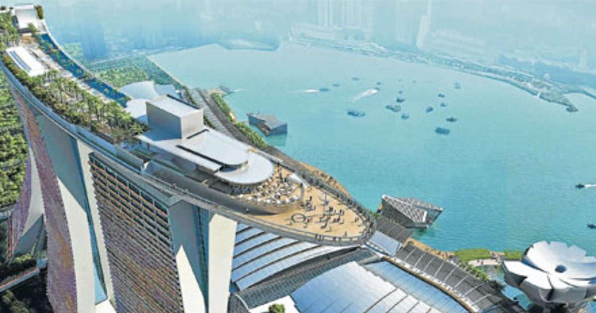 Singapur Hotel Mit Pool Auf Dem Dach