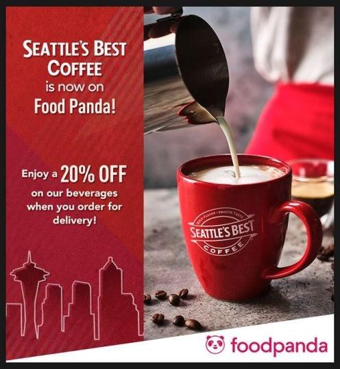 Seattle's Best – Enjoy a 20% discount when you order through Foodpanda