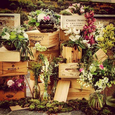 Wedding decoration with wine boxes by Ioanna Vamvakari