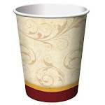 Floral inspiration 9oz. hot / cold paper cups, 8ct. | Party Source