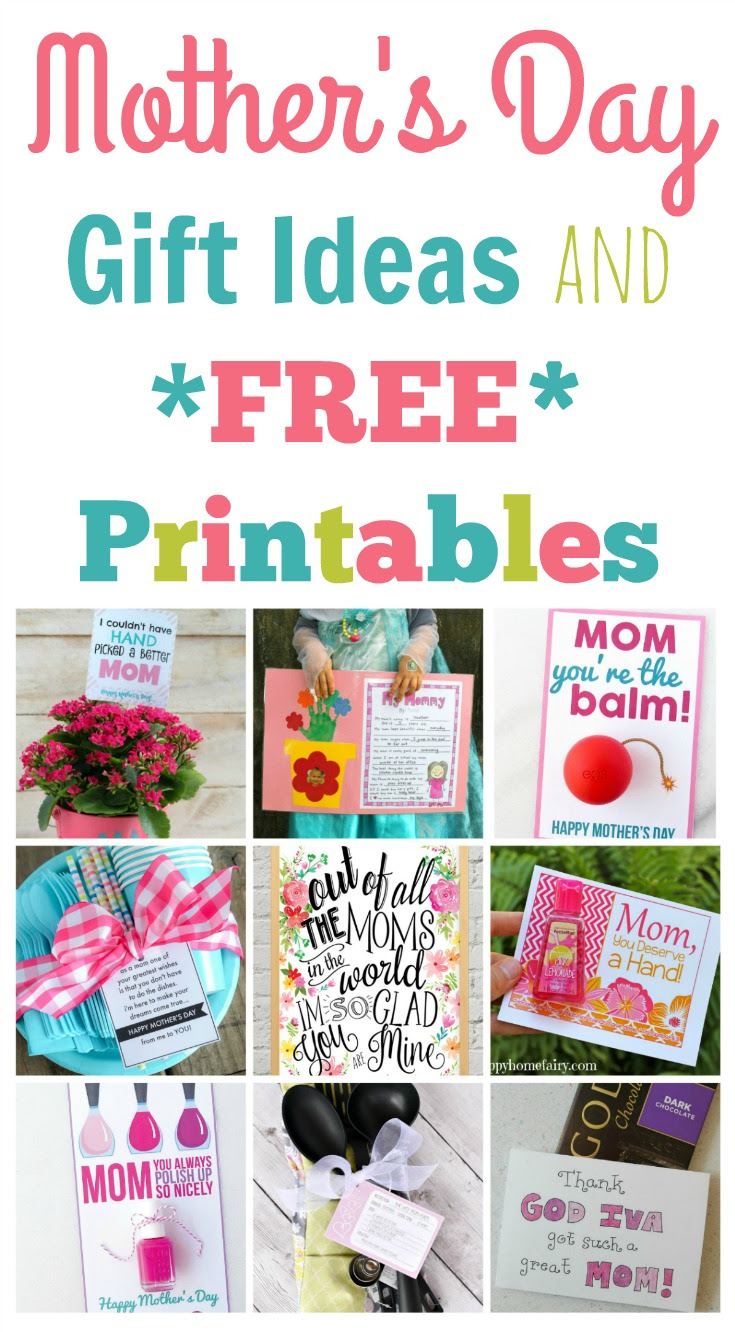 Quick and Easy Mother\u002639;s Day Gift Ideas and Printables  Happy Home Fairy