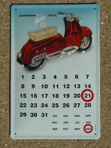 Zundapp Bella calendar