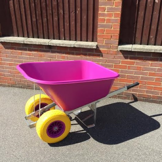 200 Litre Pink Wheelbarrow – Twin Fatboy Wheel