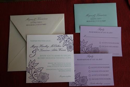 McClellan-Warren Letterpress Wedding Invite Set