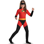Disguise The Incredibles Violet Superhero Girl's Halloween Costume, Red/Black