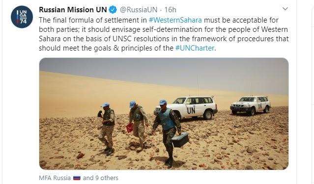Rusia afirma que cualquier solución al conflicto del Sáhara Occidental debe respetar la autodeterminación del pueblo saharaui y la Carta de la ONU