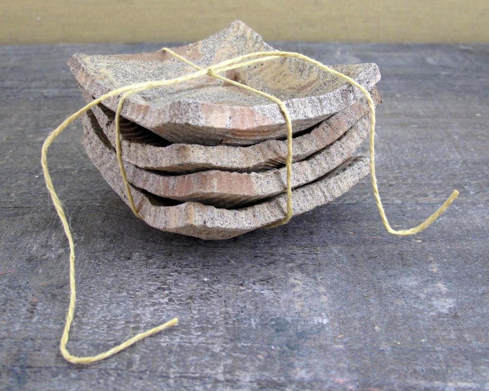 Naked Wabi Sabi Dishes - Set of Four Rustic Mini Plates - LaPellaPottery