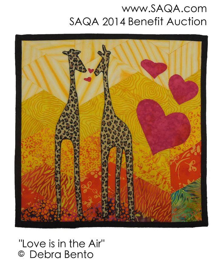 Art quilt by Debra Bento #SAQA #artquilts