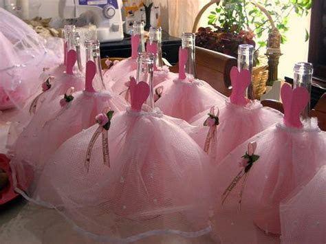 To decorate the wine/champagne bottles   Quinceanera