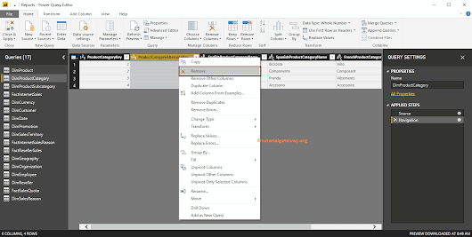 Remove Columns from Tables in Power BI
