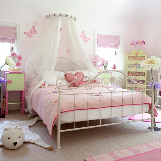 Pink girls bedroom  country farm lodge house  housetohome.co.uk