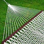 Best Choice Products Cotton Rope Double Hammock with Carrying Case, Off-White