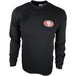 NFL Team Apparel San Francisco 49ers Men's Big and Tall Mock Neck Long-Sleeve Mid-Weight Shirt