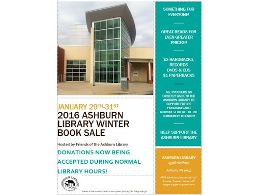 Ashburn Library 2016 Winter Book Sale January 29th-31st | Patch