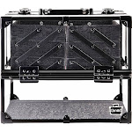 Caboodles Neat Freak 6-Tray Train Case - Clear with Black - Toiletry Kits